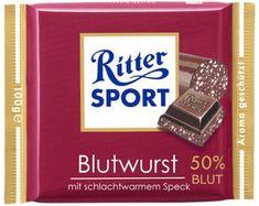 RITTER SPORT Fake Schokolade Blutwurst