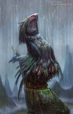 Boo Bird, Sam Nielson on ArtStation at https://www.artstation.com/artwork/boo-bird
