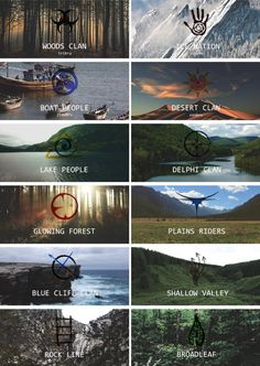 The 100 // 12 Clan Symbols of the Coalition