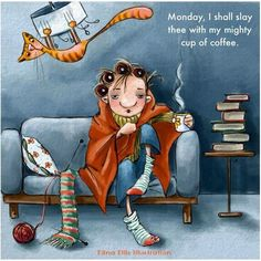 Coffee is the best ally when it comes to Mondays. #Monday #Humor #Coffee