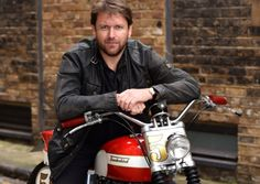 James Martin with his Triumph Thunderbird motorcycle