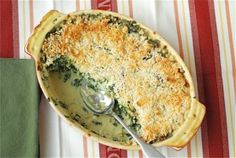 Creamy & Delicious Spinach Gratin  Perfect for Thanksgivng