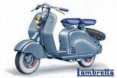 Scooter Lambretta LD années 50' (Arts numériques) par Eric Faure