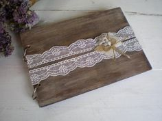 Wooden guestbook-rustic photoalbum Rustic Wedding by CraftStories