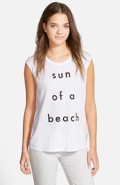 My new favorite shirt in my closet.  :) Rebecca Minkoff 'Sun of a Beach' Muscle Tee available at #Nordstrom