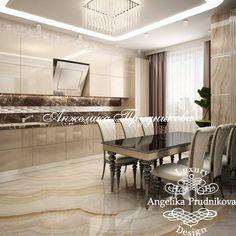 Дизайн интерьера кухни в светлых тонах в стиле модерн - фото Luxury Kitchen Design, Kitchen Room Design, Bathroom Interior Design, Kitchen Interior, Interior Design Living Room, Kitchen Decor, Kitchen Furniture, Furniture Design, Kitchen World