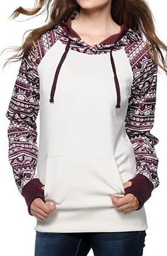 Fall/Winter Long Sleeve Tribal Print Hoodie