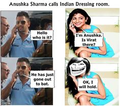 Indian cricket team joke and comedy