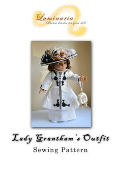PDF INSTANT DOWNLOAD Pattern To Make Lady by LuminariaDesigns