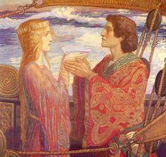 John Duncan (Scottish 1866-1945) Tristan and Isolde