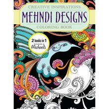A Michaels Exclusive This Delightful Coloring Book Is Sure To Please In These Pages Youll Find Beautiful Mehndi Designs That Will Make You Smile And