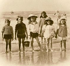 Children by the the seaside