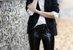 COCOCHIC   cocochic.creatorsofdesire.com #fashion #details #outfit #ootd #black #white #leather