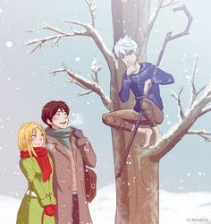 Jack Frost and grown up Jamie and Sophie