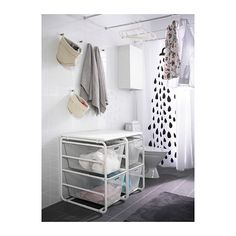 ALGOT Frame with 2 mesh baskets/top shelf IKEA
