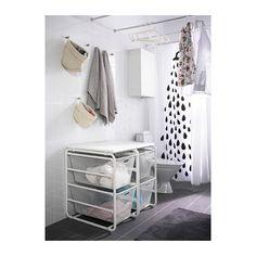 ALGOT Rám/2 sieťované koše/vrchná polica - IKEA