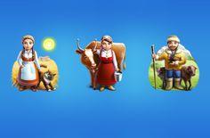 Farm Folks Illustration