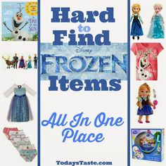 As you know, it is VERY hard to find Frozen Items in any store! These hard to find Frozen Items are all online and are a decent price! You have to check it out!