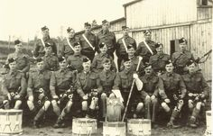 Queen's Own Cameron Highlanders, POW's at Stalag XVIIIA. 51st Division Camp Pipe Band.