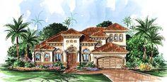 Florida Mediterranean House Plan 60420