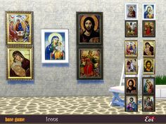 evi's Byzantine Icons Bohemian Painting, Greek Pottery, Boho Tapestry, The Sims 4 Download, Byzantine Icons, Sims Community, Electronic Art, God Of War, Artist Painting