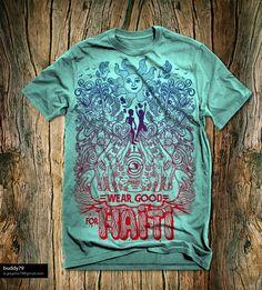 """Wear Good for Haiti"" t-shirt design by buddy79™"