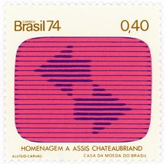 Brazil postage stamp: tv screen by karen horton, via Flickr