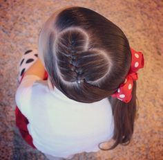 10 Gorgeous Braided Hairstyles with Bun for Your Little Girl - Wass Sell Braided hair style with heart shaped side with red ribbon Your Little Girl Side Braid Hairstyles, Baby Girl Hairstyles, Princess Hairstyles, Cute Hairstyles, Cute Little Girl Hairstyles, Kids Hairstyle, Perfect Hairstyle, Toddler Hairstyles, Gorgeous Hairstyles
