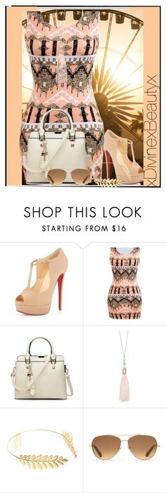 """""""Summer nights No.202"""" by xdivinexbeautyx ❤ liked on Polyvore featuring Christian Louboutin, Oasis, Cara and Stella & Dot"""