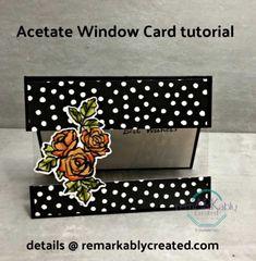 Simple Acetate window card featuring Petal Palette