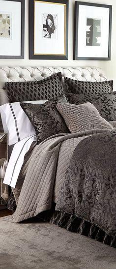 Luxury Bedding from the Top Designer Bedding Brands Bedroom Bed, Dream Bedroom, Bedroom Apartment, Bedroom Decor, Master Bedrooms, Black Bedrooms, Bedding Decor, Rustic Bedding, Chic Bedding