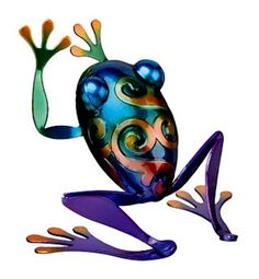 Love frogs in the garden, beautiful colors on this one.  i like to place them peeking out of somewhere...  Whimsical..