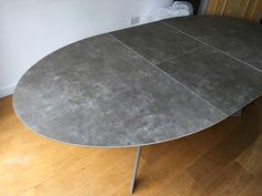 Fully extended Moon table with width extensions. Table in mink matt steel frame. Delivered to our client in High Wycombe. Moon Table, High Wycombe, Leather Bed, Extendable Dining Table, Sofa Design, Modern Bedroom, Contemporary Furniture, Steel Frame, Mink