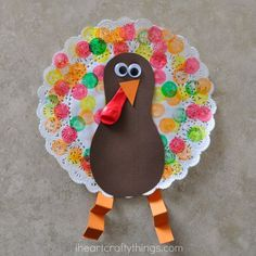 Gobble, Gobble! We are gearing up for Thanksgiving and having a blast making turkey crafts. Our latest is this fundoily turkey craft for kids. Using Dot Markers to decorate the doily makes it a perfect craft for even the youngest toddler crafters. So gather round the table as a family, grab your supplies and get …