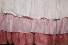 Coral Ombre Tiered Ruffle Crib Skirt by DesignsbyChristyS on Etsy Crib Skirts, Valance Curtains, Cribs, Coral, Trending Outfits, Babies, Etsy, Home Decor, Cots
