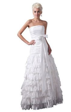 Herafa Strapless A-Line Wedding Dress Floor Length Ruched White Size:2 herafa,http://www.amazon.com/dp/B00BQ2V6LS