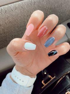 Fashion trends fake Nails, chrome Nails, bright Nails, Nails ideas, n. Acrylic Nails Coffin Short, Simple Acrylic Nails, Fall Acrylic Nails, Coffin Nails, Stiletto Nails, Acrylic Nail Designs, Teen Nail Designs, Acrylic Art, Bright Nails