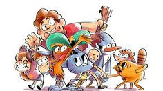 Gravity Falls, Steven Universe, Wander Over Yonder, The Amazing World of Gumball, Adventure Time, Regular Show