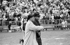 Green Bay Packers coach Vince Lombardi, left, and Chicago Bears coach George Halas shake hands after Green Bay?s 24-0 victory at new City Stadium on Oct. 1, 1961. It was the Packers? first shutout of the Bears since 1935. Press-Gazette archives