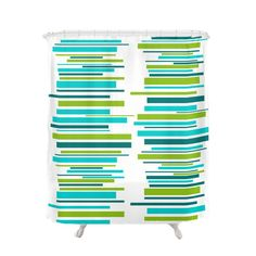 Items similar to Mid Century Modern Retro Shower Curtain on Etsy Retro Shower Curtain, Modern Shower Curtains, Modern Retro, Midcentury Modern, Pad Design, Bathroom Doors, Mid Century Design, Home And Living, Stripes