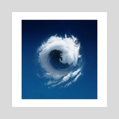 This is a gallery-quality giclèe art print on cotton rag archival paper, printed with archival inks. Something Blue, Print Poster, Spin, Waves, Clouds, Draw, Art Prints, Printed, Gallery
