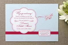 Come Fly With Me Bridal Shower Invitations by Chamelle Designs at minted.com