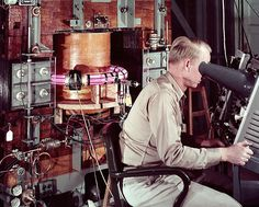 The Perhapsatron an early fusion power device based on the pinch concept in the 1950s. Dreamt up by Jim Tuck at Los Alamos National Laboratory he named the device whimsically on the off chance that it might be able to create fusion reactions [640 x 513] http://ift.tt/2fccbKq