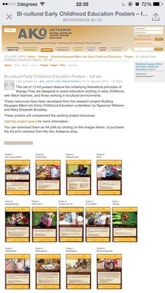 These resources have been developed from the research project Building Kaupapa Māori into Early Childhood Education undertaken by Ngaroma Williams and Mary Elizabeth Broadley. These posters will complement the existing project resources. Teaching Programs, Preschool Programs, Preschool Songs, Early Childhood Education Programs, Early Education, Child Development Psychology, Research Projects, Learning Tools, Mary Elizabeth