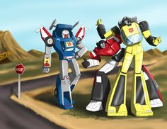 Hitchin' A Ride by ~Ty-Chou on deviantART (Tracks, Sideswipe, Sunstreaker)