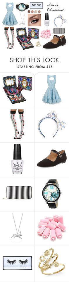 """""""Alice in Wonderland"""" by amp31001 on Polyvore featuring Urban Decay, Disney, Olympia Le-Tan, OPI, The Row, New Look, Joy Everley, Terre Mère, disney and Alice"""