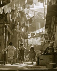:::::::::: Vintage Photograph ::::::::::  The Slums of Hong Kong by the photographer Fan Ho.