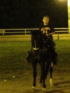 My baby Jacob riding Trane
