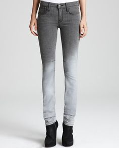 Helmut Jeans Fade Gloss Wash Five Pocket Skinny in Grey White - Lyst