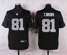 a8c4bf92 Men's NFL Oakland Raiders #81 T.Brown Black Elite Jersey Donald Penn, Color